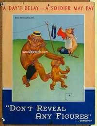 p071 DON'T REVEAL ANY FIGURES war poster '40s Lawson Wood