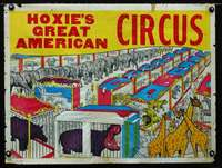 b032 HOXIE'S GREAT AMERICAN CIRCUS poster '70s