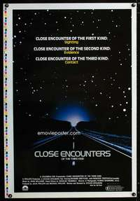 b004 CLOSE ENCOUNTERS OF THE THIRD KIND printer's test one-sheet movie poster '77
