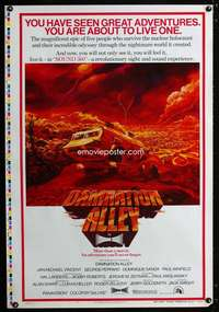 b005 DAMNATION ALLEY printer's test teaser one-sheet movie poster '77