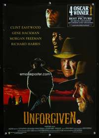 b074 UNFORGIVEN English special poster '92 Eastwood