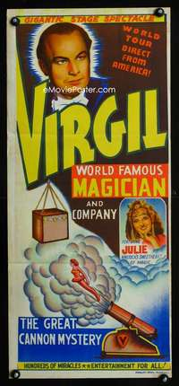 b014 VIRGIL WORLD FAMOUS MAGICIAN Indian poster c53