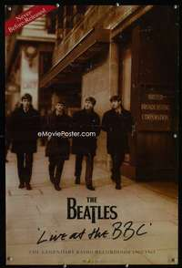 b049 BEATLES LIVE AT THE BBC special music poster '94 cool!