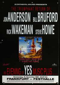 b052 EVENING OF YES MUSIC PLUS… German concert poster '89