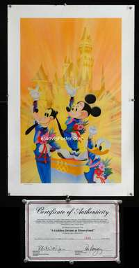 b048 GOLDEN DREAM AT DISNEYLAND limited edition print poster '88