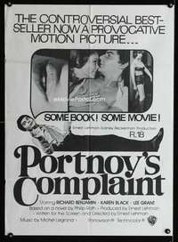 b076 PORTNOY'S COMPLAINT New Zealand special movie poster '72