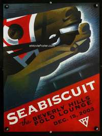 b063 SEABISCUIT premiere party movie poster '03 horse racing!