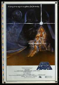 b002 STAR WARS printer's test style A 1sh movie poster 77/21-0