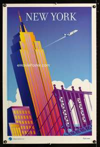 b043 NEW YORK INDEPENDENCE AIR travel poster '05