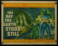 m001 DAY THE EARTH STOOD STILL half-sheet movie poster '51 classic!