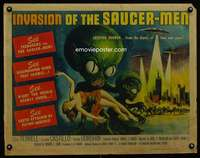m004 INVASION OF THE SAUCER MEN half-sheet movie poster '57 best AIP!