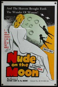 m021 NUDE ON THE MOON one-sheet movie poster '62 Doris Wishman classic!