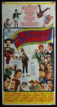 p426 MGM'S BIG PARADE OF COMEDY three-sheet movie poster '64 W.C. Fields