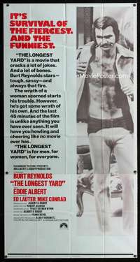 p406 LONGEST YARD int'l three-sheet movie poster '74 Burt Reynolds, football