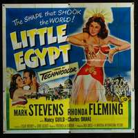 p055 LITTLE EGYPT six-sheet movie poster '51 half-dressed Rhonda Fleming!