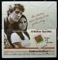 p057 LOVE STORY six-sheet movie poster '70 Ali MacGraw, Ryan O'Neal