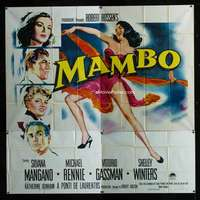 p058 MAMBO six-sheet movie poster '54 super sexy art of Silvana Mangano!