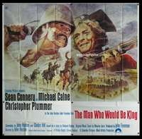 p062 MAN WHO WOULD BE KING six-sheet movie poster '75 Sean Connery, Caine