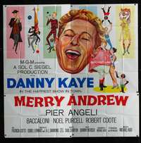 p064 MERRY ANDREW six-sheet movie poster '58 Gale artwork of Danny Kaye!