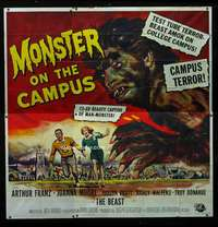 p067 MONSTER ON THE CAMPUS six-sheet movie poster '58 Reynold Brown art!