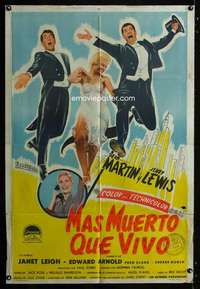 p747 LIVING IT UP Argentinean movie poster '54 Martin & Lewis, Leigh