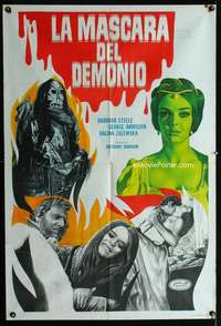 p748 LONG HAIR OF DEATH Argentinean movie poster '64 horror image!