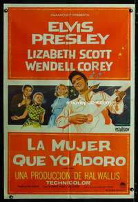 p749 LOVING YOU Argentinean movie poster '57 Elvis Presley,Liz Scott