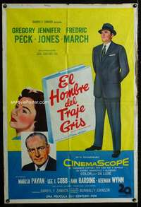 p751 MAN IN THE GRAY FLANNEL SUIT Argentinean movie poster '56