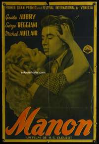 p753 MANON Argentinean movie poster '49 Henri-Georges Clouzot