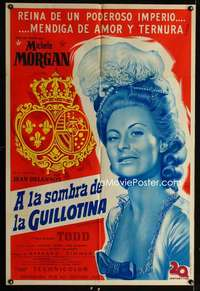 p755 MARIE ANTOINETTE Argentinean movie poster '55 Michele Morgan