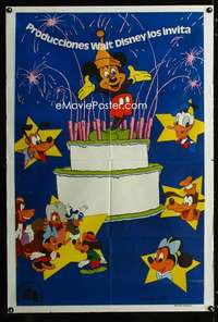 p757 MICKEY MOUSE HAPPY BIRTHDAY SHOW Argentinean movie poster '68
