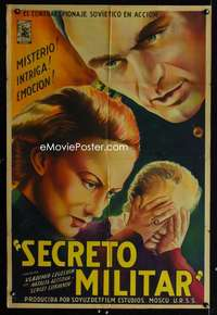 p758 MILITARY SECRET Argentinean movie poster '45 Russian spies!