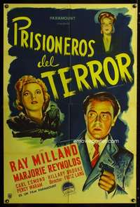 p759 MINISTRY OF FEAR Argentinean movie poster '44 Fritz Lang, Milland
