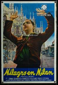 p760 MIRACLE IN MILAN Argentinean movie poster '51 De Sica