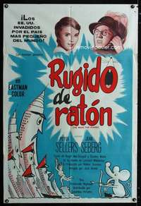 p762 MOUSE THAT ROARED Argentinean movie poster '59 Peter Sellers