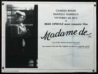 p153 MADAME DE British quad movie poster R80s Ophuls' most romantic!