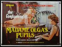 p154 MADAME OLGA'S PUPILS British quad movie poster '80 sexy!