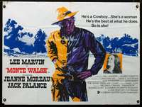 p156 MONTE WALSH British quad movie poster '70 Lee Marvin, Moreau