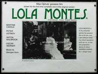 p152 LOLA MONTES British quad movie poster R80s Max Ophuls' greatest!
