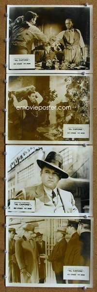 s392 AL CAPONE 8 English 8x10 movie stills '59 Rod Steiger, Balsam