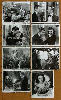 s008 GONE WITH THE WIND 90 8x10 movie stills R71 Clark Gable, Leigh