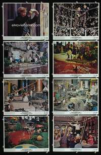 s579 WILLY WONKA & THE CHOCOLATE FACTORY 8 8x10 mini movie lobby cards '71 Wilder
