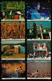 s580 WOODSTOCK 8 8x10 mini movie lobby cards '70 classic rock & roll concert!