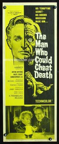 b436 MAN WHO COULD CHEAT DEATH insert movie poster 59 Hammer Lee