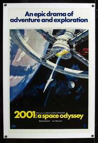 d069 2001 A SPACE ODYSSEY linen one-sheet movie poster '68 Stanley Kubrick