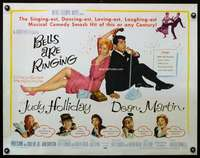 d047 BELLS ARE RINGING style B half-sheet movie poster '60 Holliday, Martin