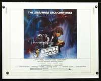 d051 EMPIRE STRIKES BACK linen half-sheet movie poster '80 George Lucas