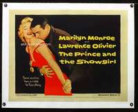 d028b PRINCE & THE SHOWGIRL linen half-sheet movie poster '57 Marilyn Monroe