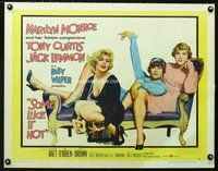 d028a SOME LIKE IT HOT style B half-sheet movie poster '59 Marilyn Monroe