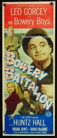 d035 BOWERY BATTALION linen insert movie poster '51 Bowery Boys